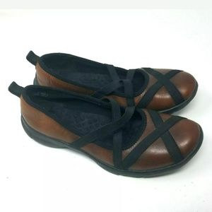 Privo Brown Leather Flats 1233